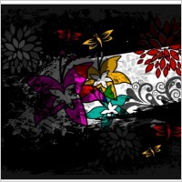 Link toAbstract butterfly color patterns 01 vector