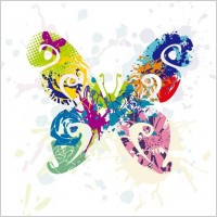 Link toAbstract butterfly vector graphic