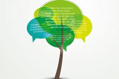 Abstract color dialog box tree vector