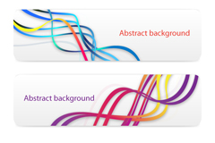 Link toAbstract color spiral curve banner vector