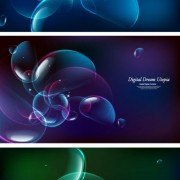Link toAbstract colored bubble backgrounds vector