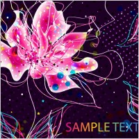 Link toAbstract colorful floral background
