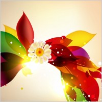 Link toAbstract colorful floral design vector background