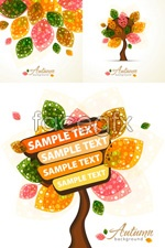 Link toAbstract colorful leaf trees vector