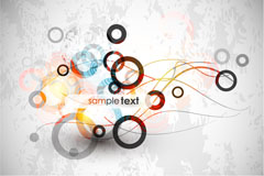Link toAbstract dynamic circle vector background