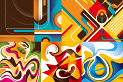 Link toAbstract dynamic streamline background vector