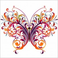 Link toAbstract floral butterfly vector graphic