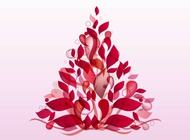 Link toAbstract floral shape vector free