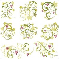 Link toAbstract floral vine grape ornament vector