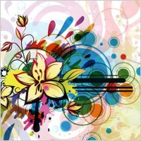 Link toAbstract flower background vector