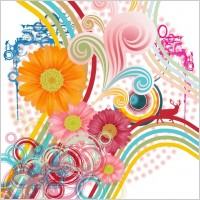 Link toAbstract flower background