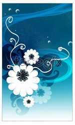 Link toAbstract flower pattern psd