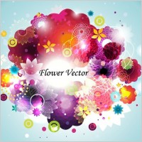 Link toAbstract flower vector