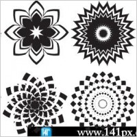 Link toAbstract flowers vector