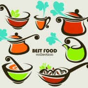 Link toAbstract food logos creative design vector 01 free