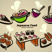 Link toAbstract food logos creative design vector 02 free