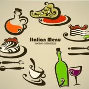 Link toAbstract food logos creative design vector 03 free