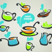 Link toAbstract food logos creative design vector 04 free