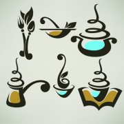 Link toAbstract food logos creative design vector 05 free