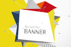 Link toAbstract geometric design banner vector