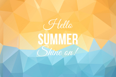 Link toAbstract geometric summer beach poster vector