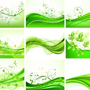 Link toAbstract green leaves background design vector free