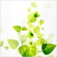 Link toAbstract green leaves vector background