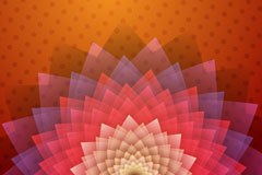 Link toAbstract-halo flower background vector