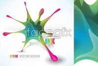 Link toAbstract ink color vector