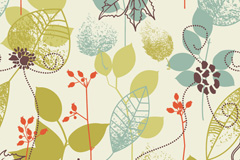 Link toAbstract leaf pattern vector