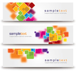 Abstract minimalist banners vector