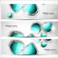 Link toAbstract modern graphics banner01 vector