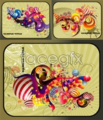 Link toAbstract patterns card vector