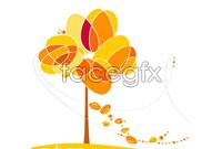 Link toAbstract red maple vector