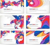 Link toAbstract ribbon cards vector illustration