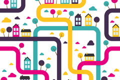 Link toAbstract road house background vector