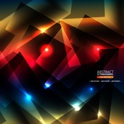 Link toAbstract shapes bright background vector free