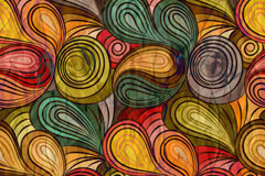 Link toAbstract spiral fold patterns background vector