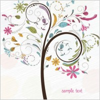 Link toAbstract swirl floral tree vector graphic
