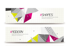 Link toAbstract triangular decorative banner vector
