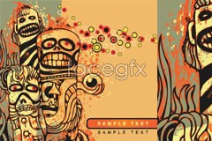 Link toAbstract tribal people of terror trend vector illustration