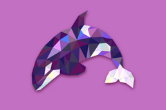 Link toAbstract whale design vector