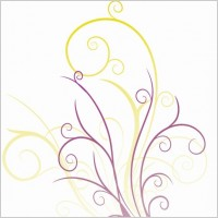 Link toAbstraction with floral swirls vector graphic