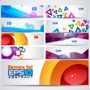 Link toAbstractr colored web banner vector graphics 03 free