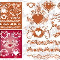 Link toAccommodates a heart-shaped pattern with lace material element vector