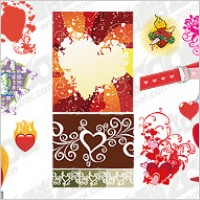 Link toAccommodates love and heart-shaped vector material