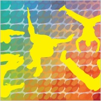 Link toAcrobatic silhouettes vector