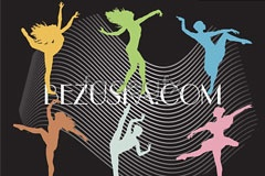 Link tovector silhouettes people dancing color Active