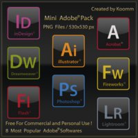 Adobe black icons – png files