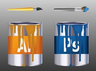 Link toAdobe paint cans vector free